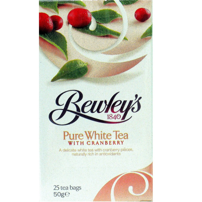 Bewley's White with Cranberry Tea Bags - 25 ct