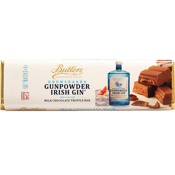 Butlers Drumshanbo Irish Gin Flavored Milk Chocolate Truffle Bar