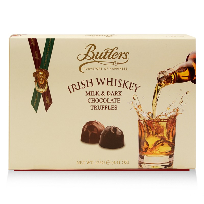 Butlers Milk & Dark Chocolate Truffles With Irish Whiskey Gift Box