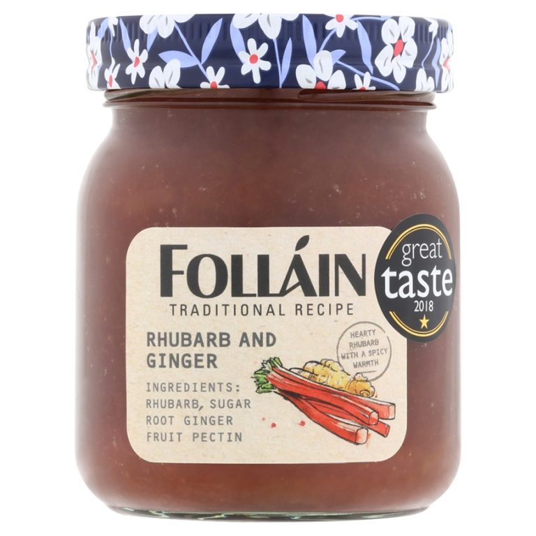 Folláin Rhubarb and Ginger Jam