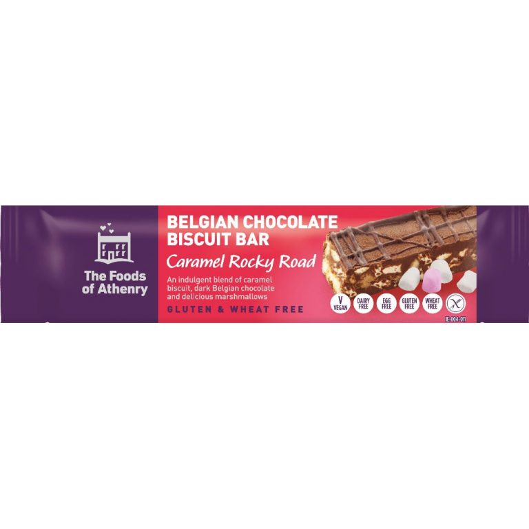 The Foods of Athenry - Belgian Chocolate Biscuit Bars – Caramel Rocky Road